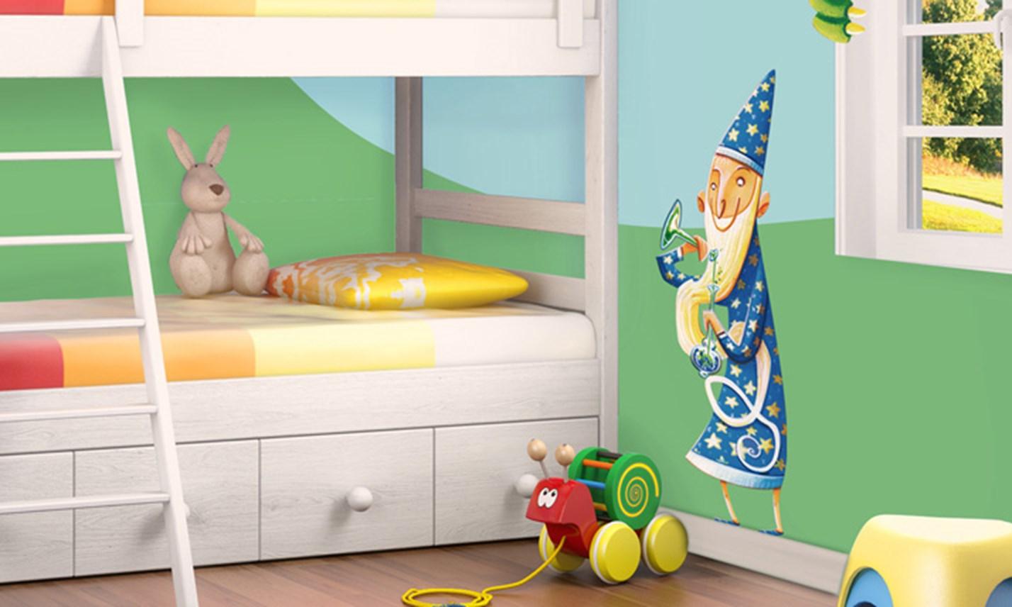 Stickers murali bambini cameretta cavalieri e principesse leostickers - Adesivi per mobili bambini ...